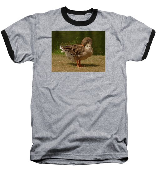 Baseball T-Shirt featuring the photograph Fancy Goose by Ramona Whiteaker