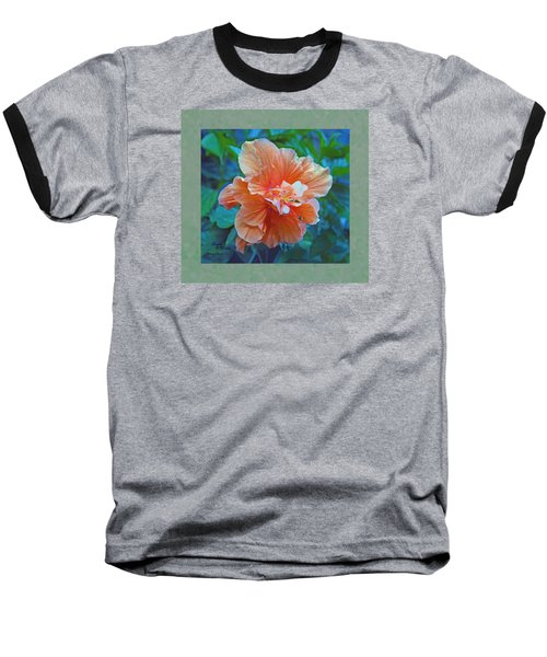 Fancy Peach Hibiscus Baseball T-Shirt