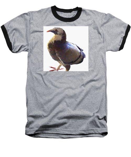 Baseball T-Shirt featuring the photograph Fancy Pigeon Macro-portrait by Merton Allen