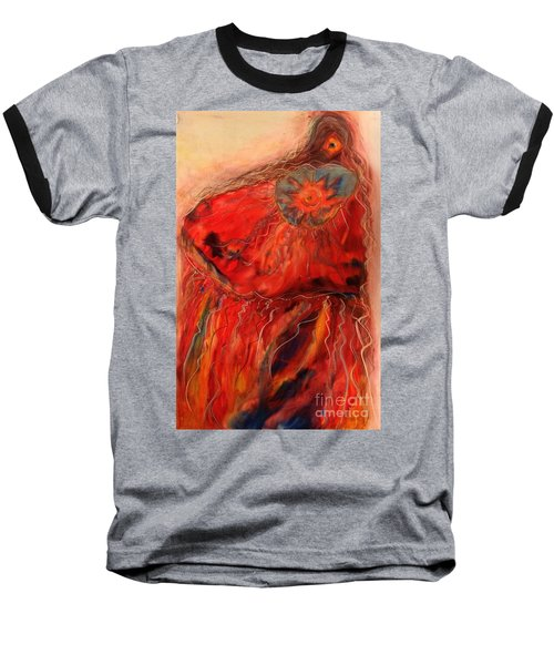 Baseball T-Shirt featuring the painting Fancy Shawl Dancer by FeatherStone Studio Julie A Miller