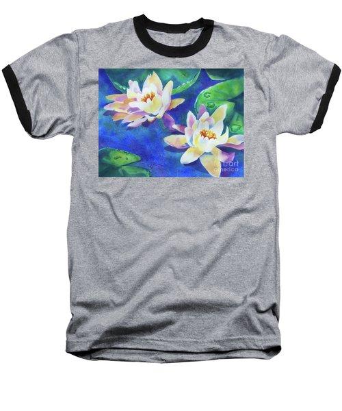 Fancy Waterlilies Baseball T-Shirt by Kathy Braud
