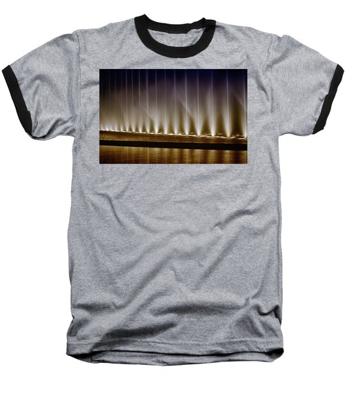 Fanfare Fountains Baseball T-Shirt by Joseph Hollingsworth