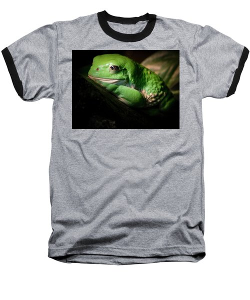 Baseball T-Shirt featuring the photograph Fantastic Green Frog by Jean Noren