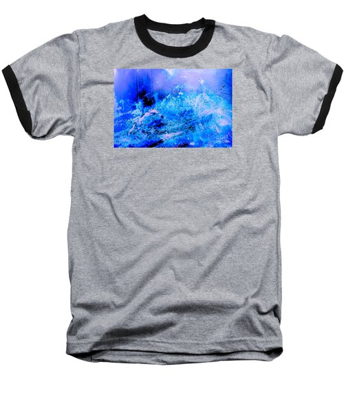 Fantasy Blue Artwork Baseball T-Shirt