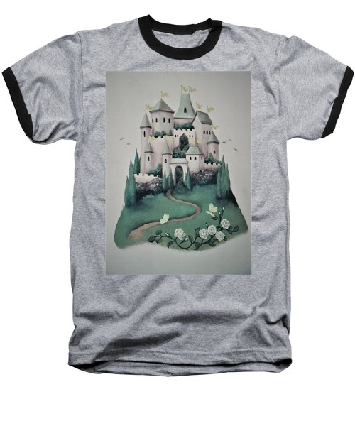 Fantasy Castle Baseball T-Shirt