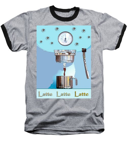 Fantasy Espresso Machine Baseball T-Shirt by Marian Cates