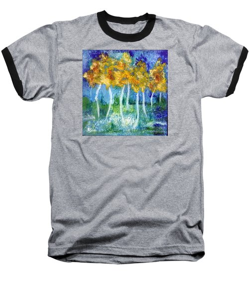 Baseball T-Shirt featuring the painting Fantasy Glade by Elizabeth Fontaine-Barr
