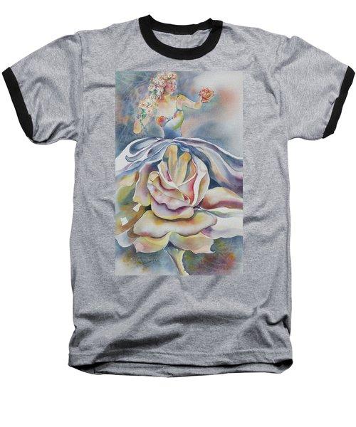 Fantasy Rose Baseball T-Shirt