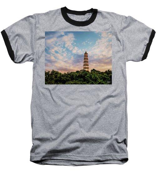 Far Distant Pagoda Baseball T-Shirt