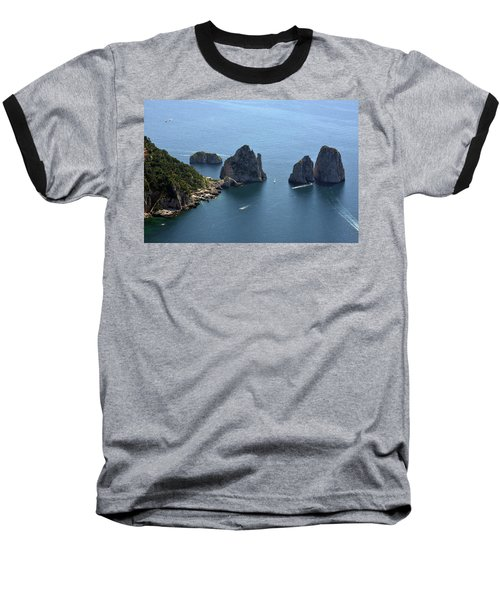 Faraglioni A Capri  Baseball T-Shirt
