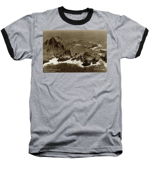 Farallon Island Lighthouse Pacific Ocean April 4, 1924 Baseball T-Shirt
