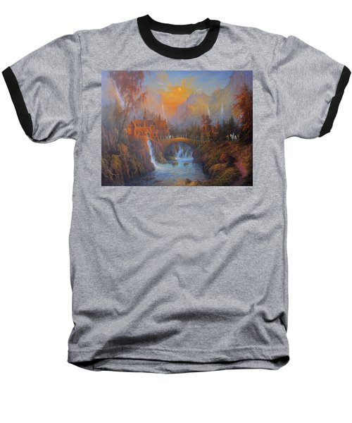 Farewell To Rivendell The Passing Of The Elves Baseball T-Shirt by Joe  Gilronan