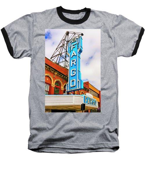 Fargo Theater Sign Baseball T-Shirt