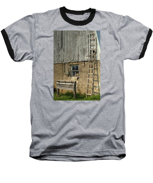 Farm Cat In Barn Baseball T-Shirt