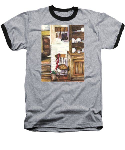 Baseball T-Shirt featuring the painting Farm House by Darren Cannell