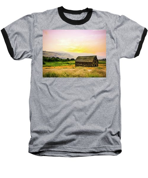 Twilight At The Okanagan Farm House Canada Baseball T-Shirt