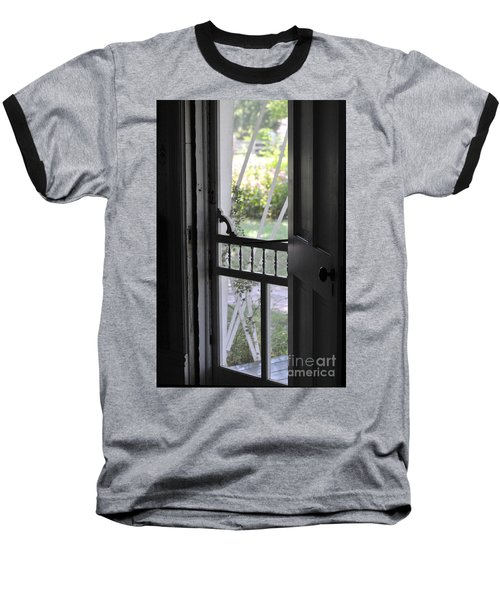 Farm House Screen Door Baseball T-Shirt by Wilma  Birdwell