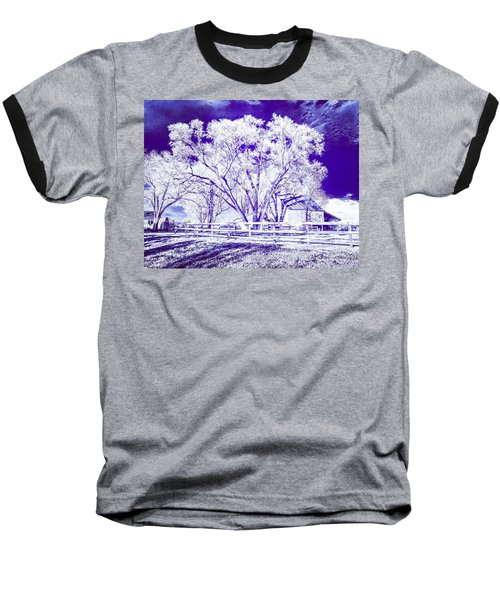 Farm In Suburbia With Wildcat Flare Baseball T-Shirt