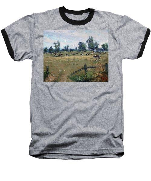Farm In Terra Cotta On Baseball T-Shirt