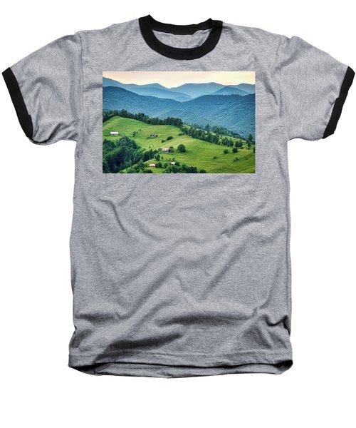 Farm In The Mountains - Romania Baseball T-Shirt