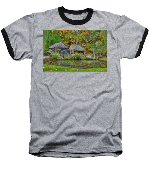 Farm In Woods Baseball T-Shirt