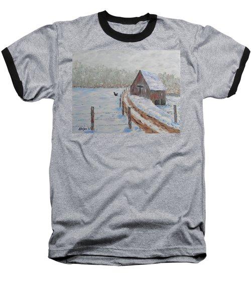 Farm Land Baseball T-Shirt by Stanton Allaben