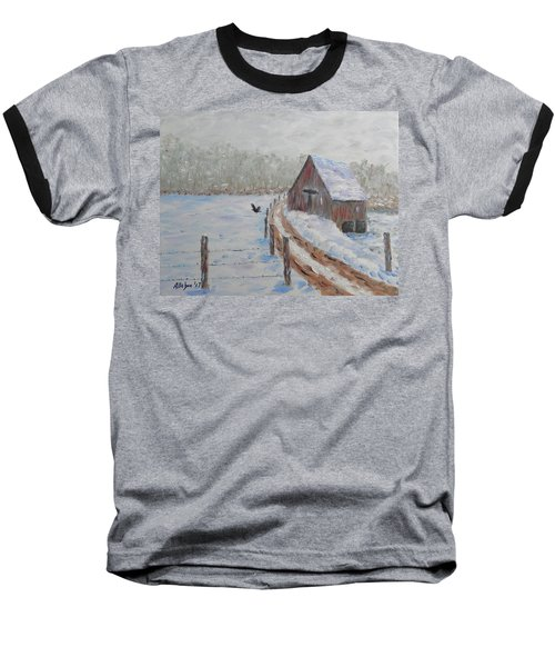 Farm Land Baseball T-Shirt