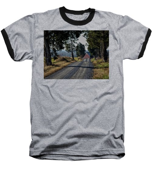 Baseball T-Shirt featuring the photograph Farm Lane by Robert Geary