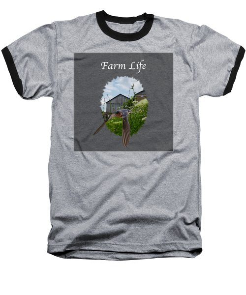 Farm Life Baseball T-Shirt by Jan M Holden
