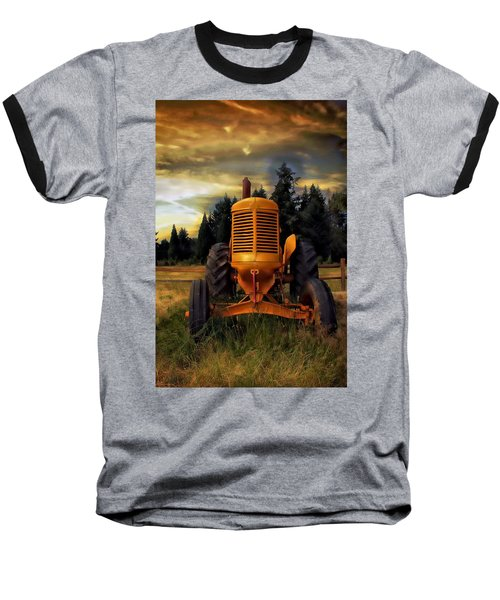 Farm On Baseball T-Shirt by Aaron Berg