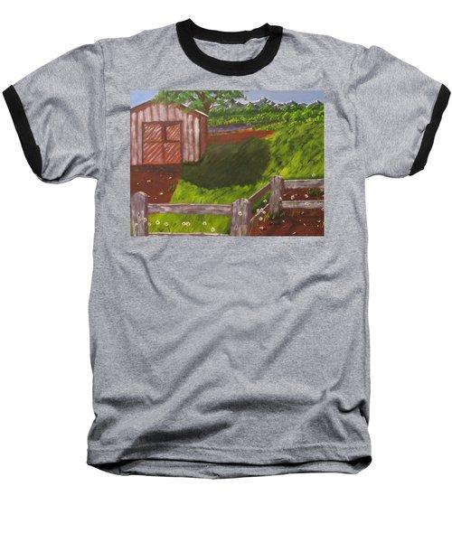 Farm Painting Baseball T-Shirt
