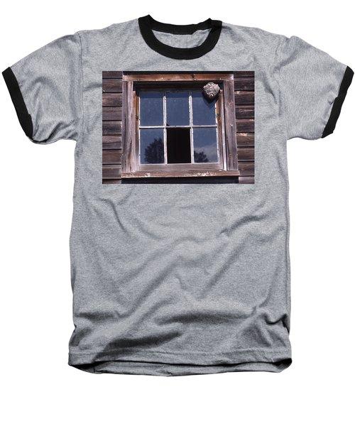 Farm Window With Paper Wasp Nest Baseball T-Shirt