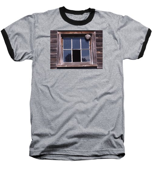 Farm Window With Paper Wasp Nest Baseball T-Shirt