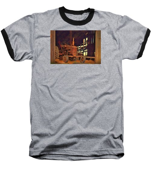Farmall 300 #1. South Hero, Vermont Baseball T-Shirt by George Robinson
