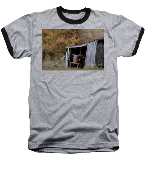 Baseball T-Shirt featuring the photograph Farmall Tucked Away by Benanne Stiens