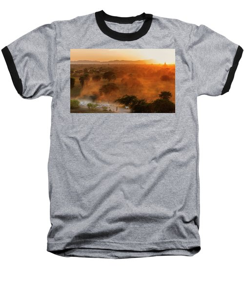 Farmer Returning To Village In The Evening Baseball T-Shirt