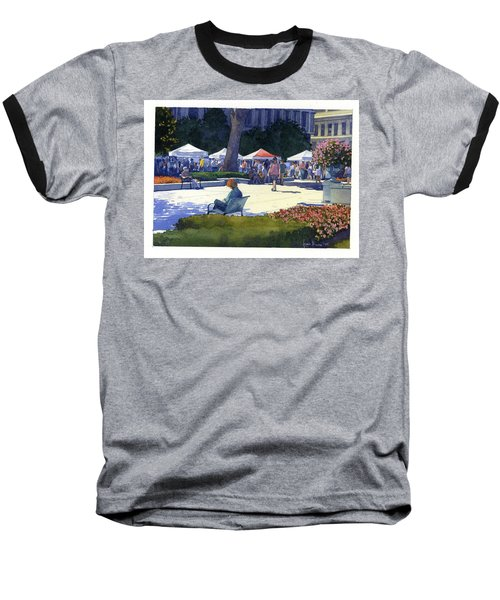 Farmers Market, Madison Baseball T-Shirt