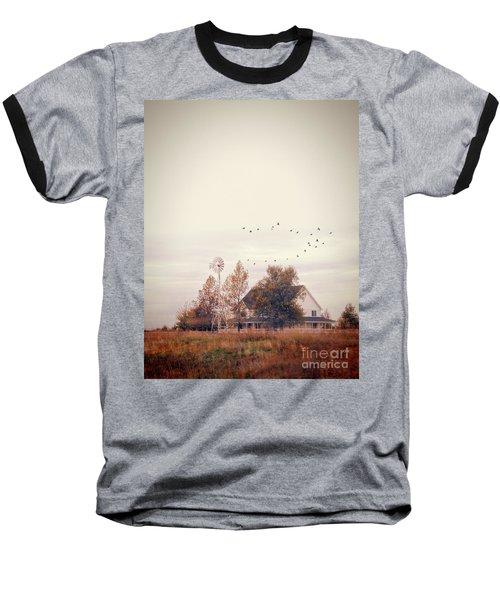 Baseball T-Shirt featuring the photograph Farmhouse And Windmill by Jill Battaglia