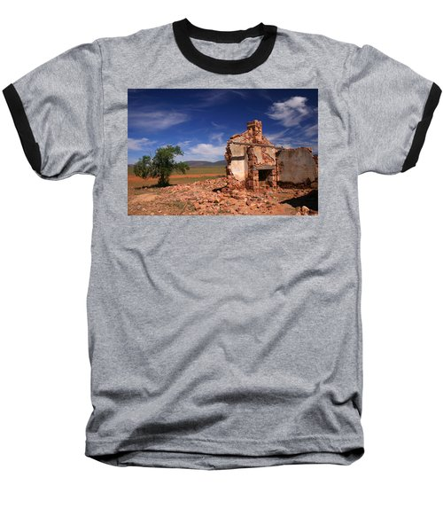Farmhouse Cottage Ruin Flinders Ranges South Australia Baseball T-Shirt by Ralph A  Ledergerber-Photography