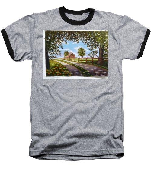 Farmhouse Framed By Trees Baseball T-Shirt