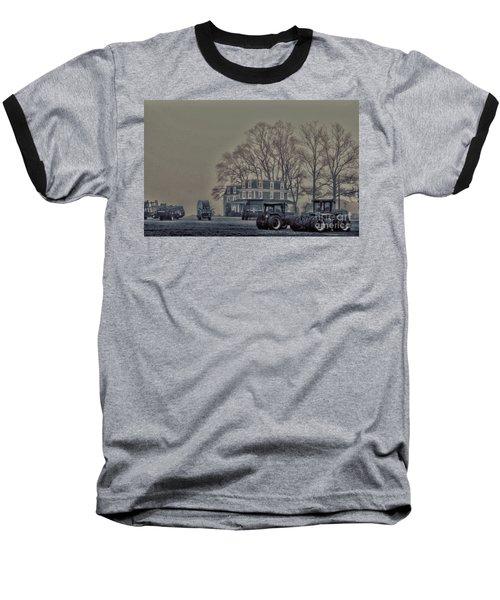 Farmhouse In Morning Fog Baseball T-Shirt