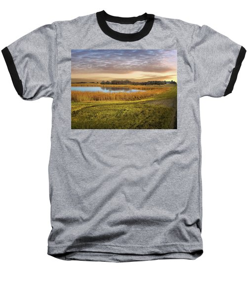 Farmland Pond Baseball T-Shirt