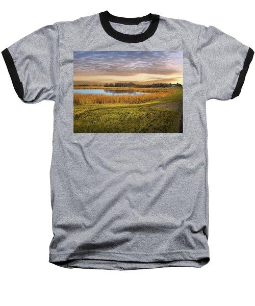 Farmland Pond Baseball T-Shirt