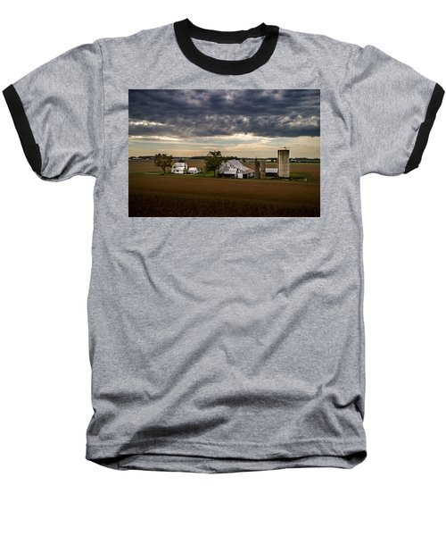 Farmstead Under Clouds Baseball T-Shirt