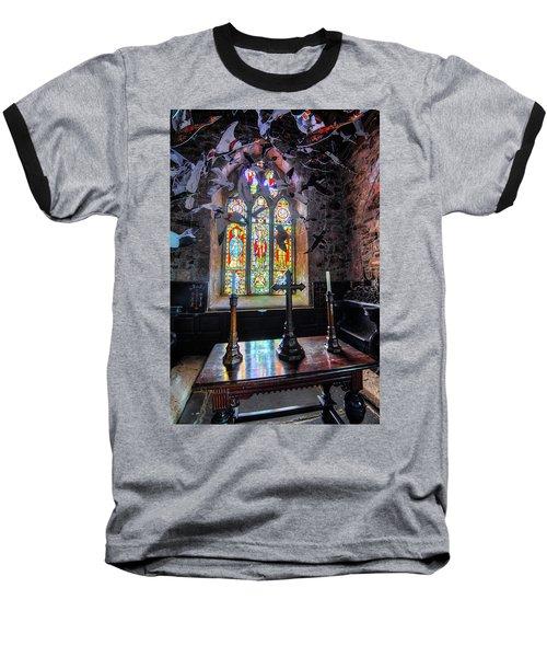 Farne Island Church Baseball T-Shirt