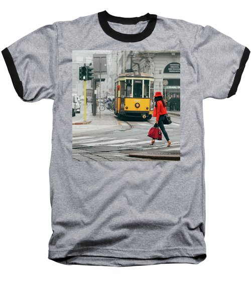 Fashionista In Milan, Italy Baseball T-Shirt