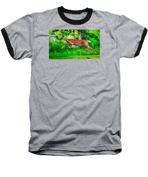 Baseball T-Shirt featuring the photograph Fast Fawn 2 by Brian Stevens