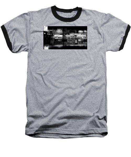 Fast Food Baseball T-Shirt by David Gilbert