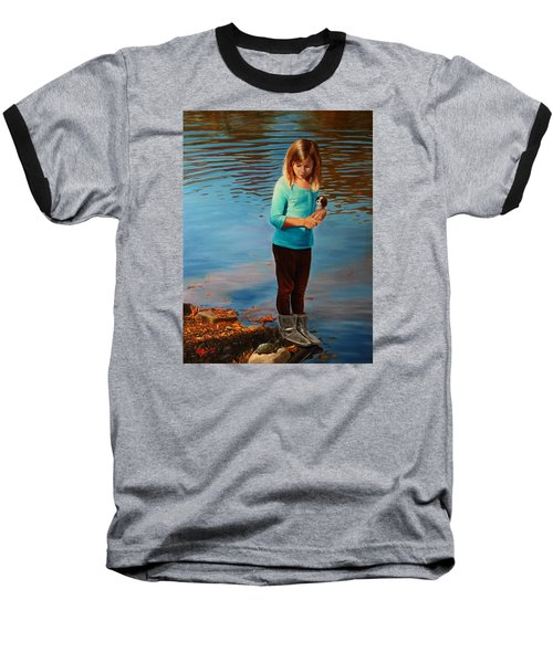 Baseball T-Shirt featuring the painting Fast Friends by Glenn Beasley