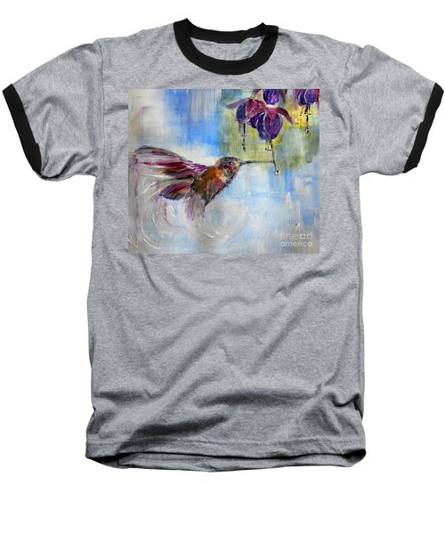 Fast Fuchsia Checkout Baseball T-Shirt by Lisa Kaiser